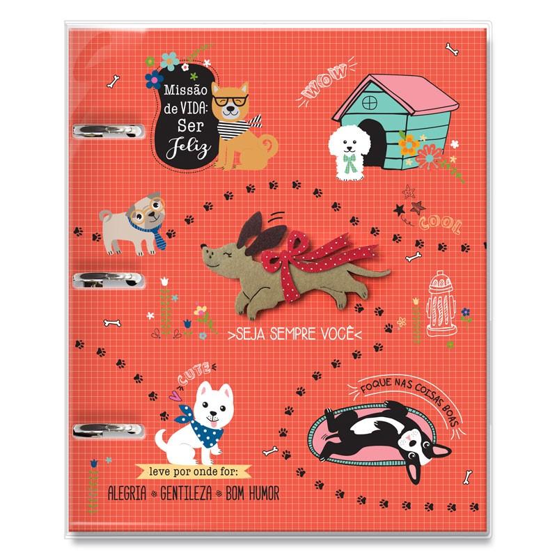 Caderno argolado Cachorro amigo - Fina Ideia
