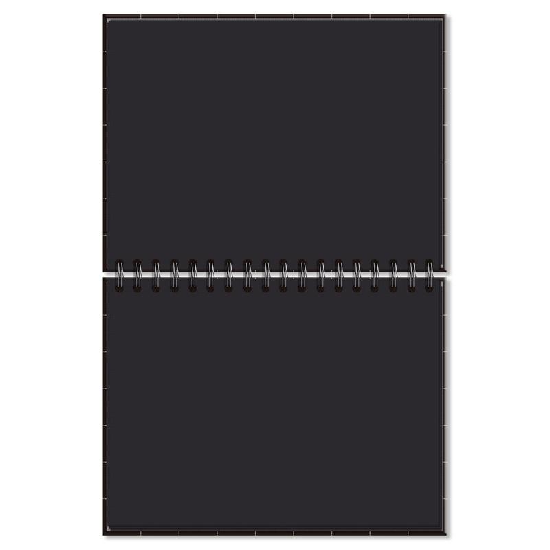 Caderno de lettering fls. pretas Preto quadriculado - Fina Ideia