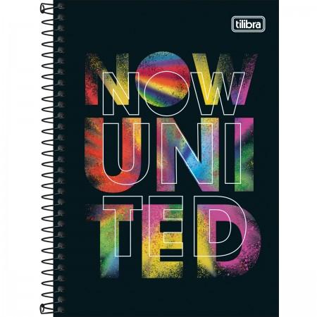 Caderno Espiral Capa Dura Universitário 10 Matérias Now United 160 Folhas  - Tilibra