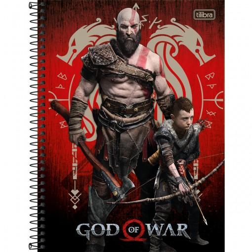 Caderno Espiral Univ. Capa Dura 1 Matéria 80 Fls God of War 04 - Tilibra Outlet