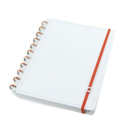 Caderno Inteligente Grande All White - 80 Folhas