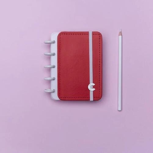 Caderno inteligente Vermelho Cereja Inteligeni
