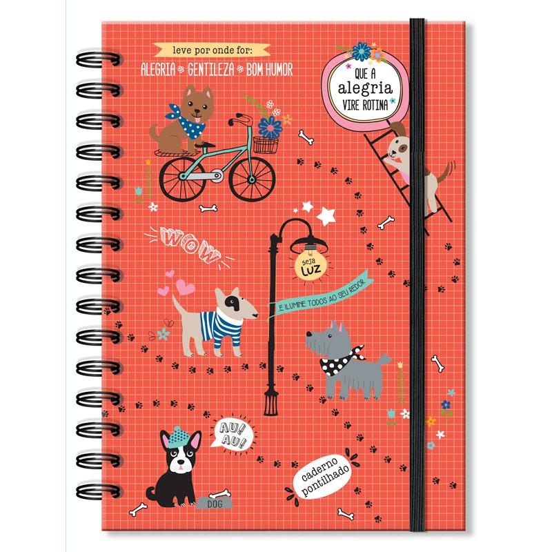 Caderno pontilhado Cachorro amigo - Fina Ideia