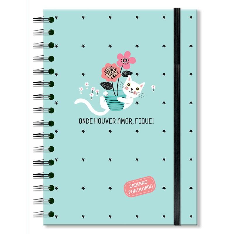 Caderno pontilhado Gatos - Fina Ideia