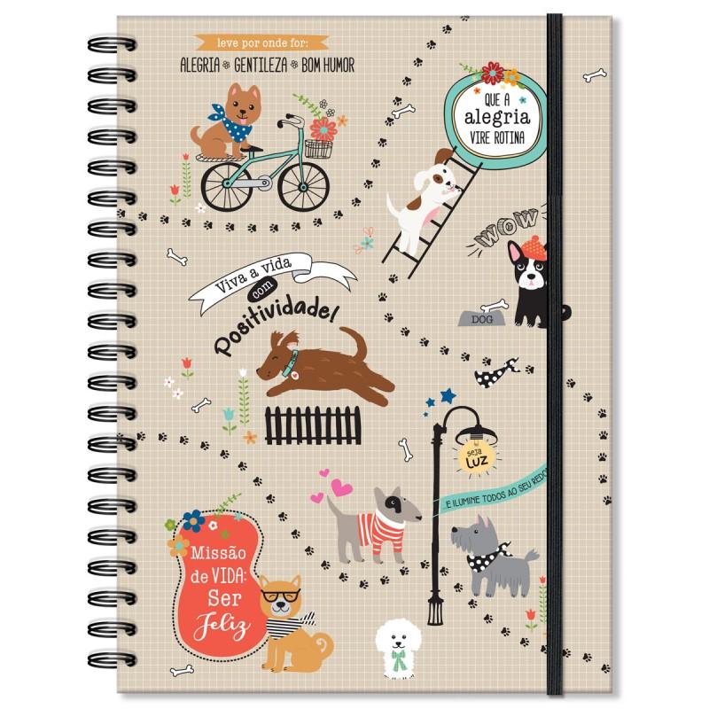 Caderno universitário 96 fls. Cachorro amigo - Fina Ideia