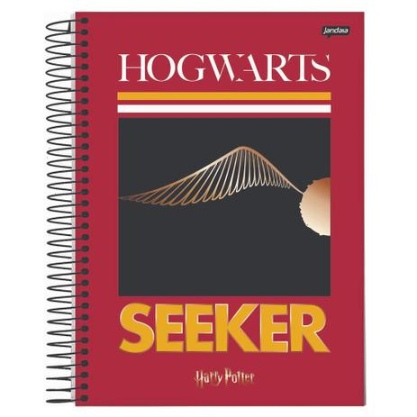 Caderno Universitário Capa Dura 15X1 300FL Seeker Harry Potter - Jandaia