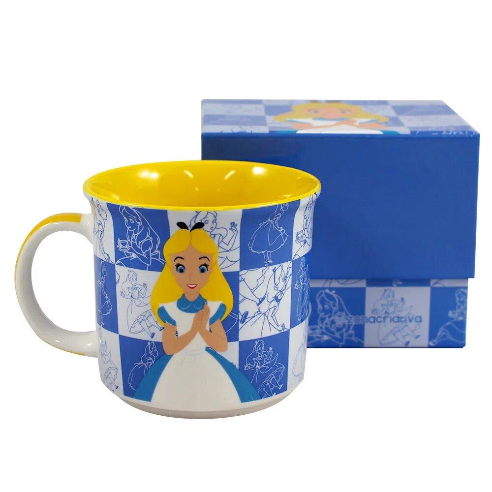 Caneca Básica - 350 Ml - Disney - Alice in Wonderland - Zona Criativa