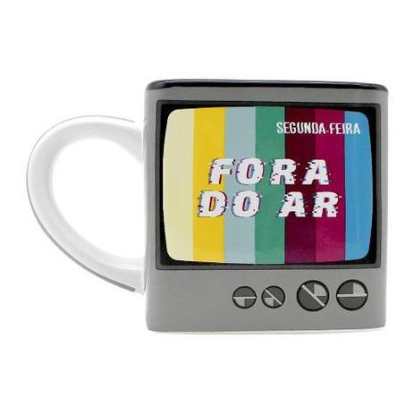Caneca Cubo TV Fora do Ar - Zona Criativa
