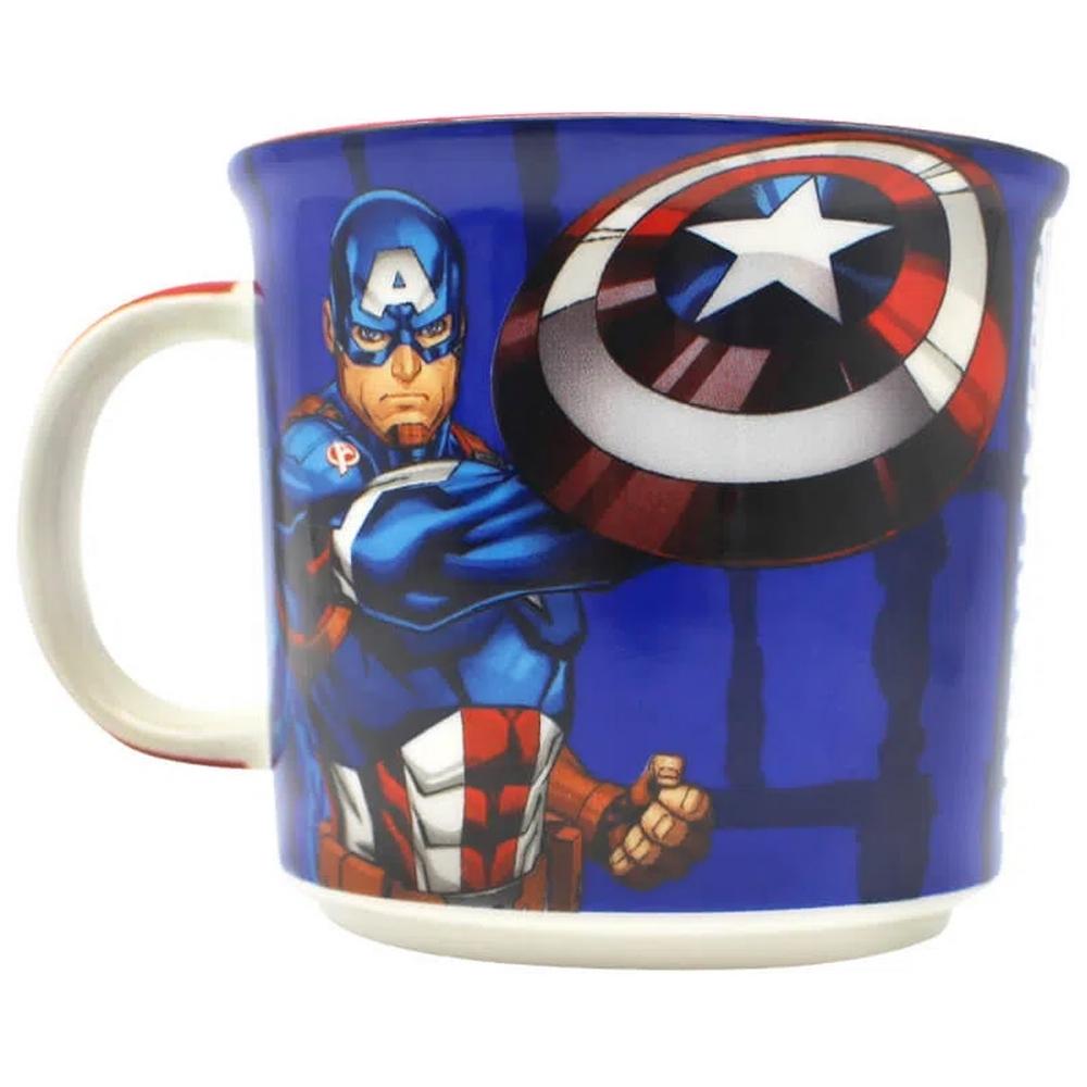 Caneca de Cerâmica 350ml Capitão América Vingadores Marvel Zona Criativa