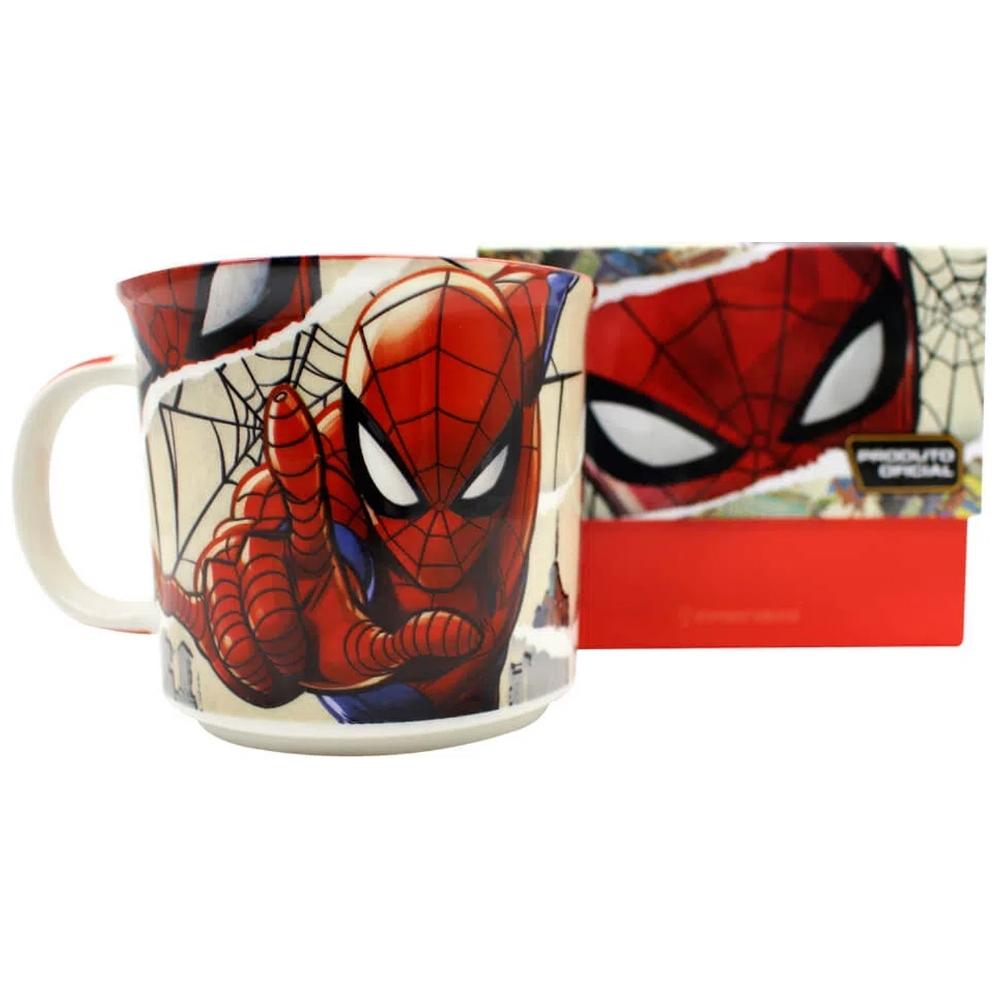 Caneca de Cerâmica 350ml Homem Aranha Marvel Zona Criativa
