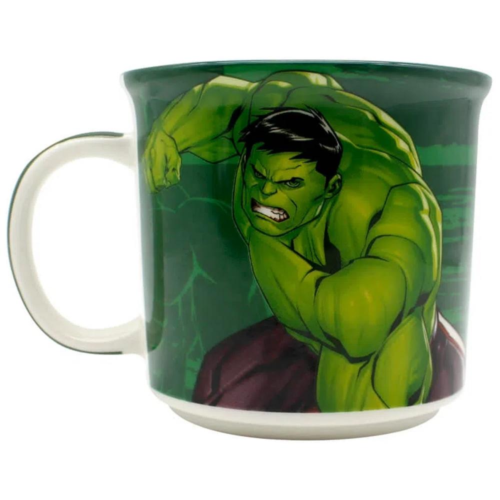 Caneca de Cerâmica 350ml Hulk Vingadores Marvel Zona Criativa