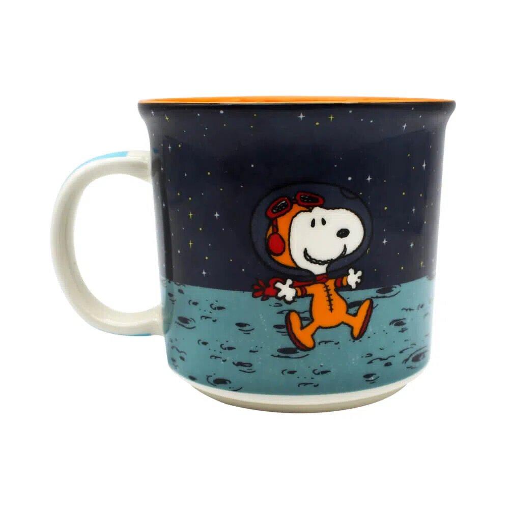 Caneca de Cerâmica 350ml Snoopy Space Zona Criativa