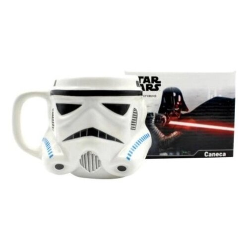 Caneca Star Wars Stormtrooper Cerâmica - Zona Criativa