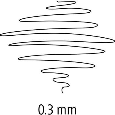 Caneta hidrográfica 10 cores 0,3mm Fineliner - Staedtler