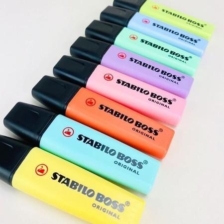 Caneta marca texto Boss pastel 8 cores - Stabilo