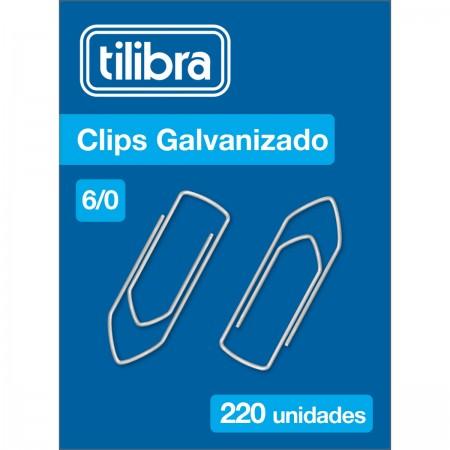 Clips 60 Galvanizado 220 Unidades - Tilibra