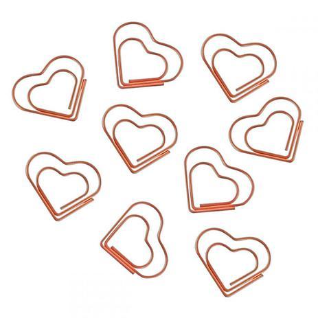 Clips Coração Rose Com 20 Unidades Tilibra