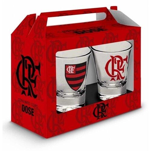 Conjunto Copo Dose Flamengo 60Ml