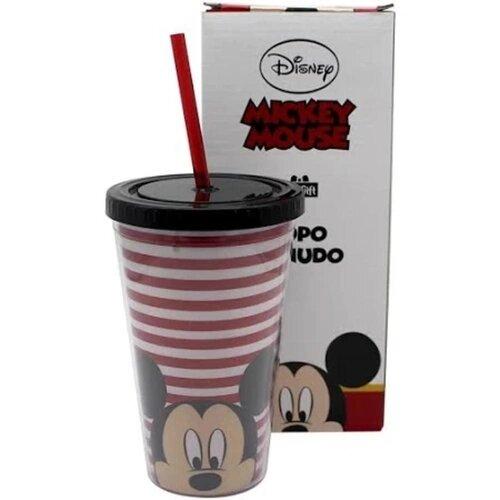 Copo Com Canudo Mickey - Newgift - 500Ml