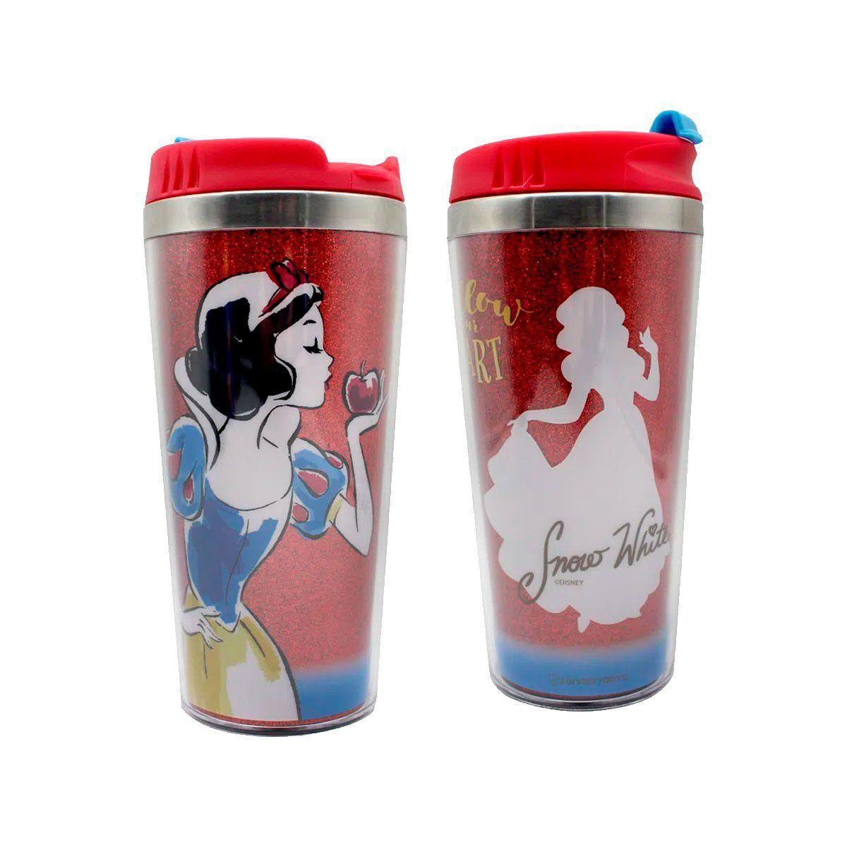 Copo Térmico com Glitter Princesa Branca de Neve Disney - Zona Criativa