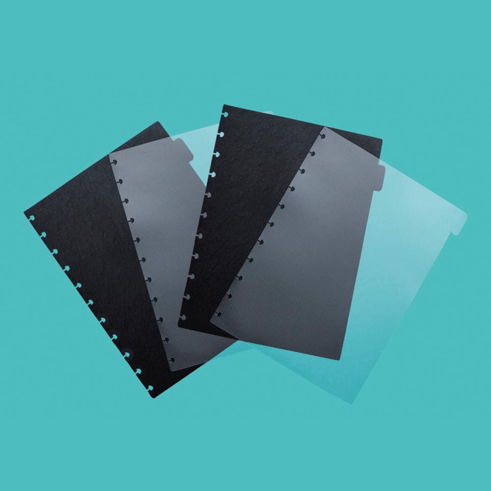 Divisórias Preta e Transparente Para Caderno Inteligente Grande