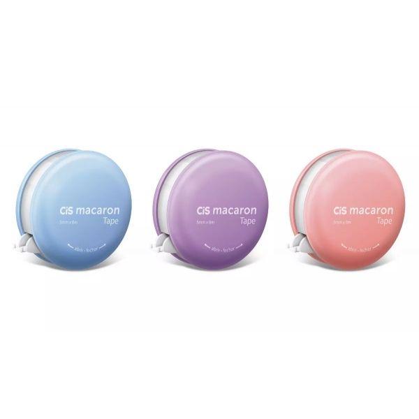 Fita Corretiva Macaron Washi Tape Color 5mm x 6m - Cis