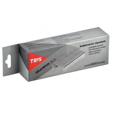Grampos Tris Galvanizado 266 Embalagem c/ 5000