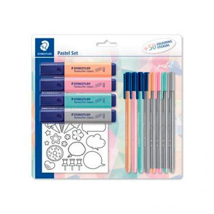 Kit Pastel Set Canetas e Marca Textos - Staedtler