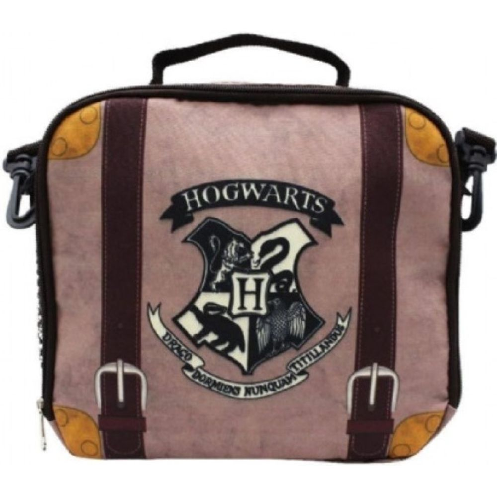 Lancheira Térmica Hogwarts Harry Potter com Alça e Zíper