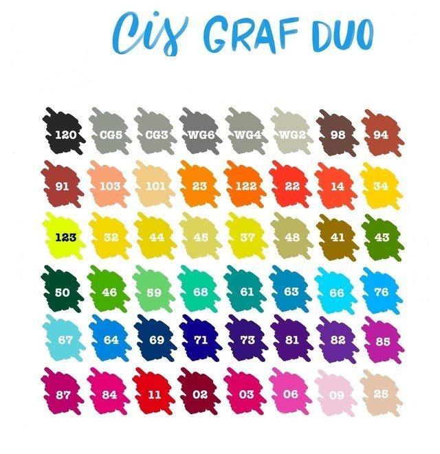 Marcador Cis Graf Duo - Avulso