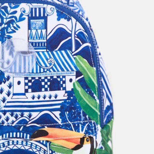Mochila Farm Xodózinha Azulejo Macau Azul-Único