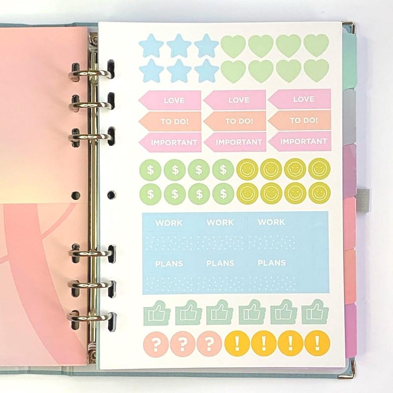 Planner Cotton Azul Notebook Organizer Caderno Organizador