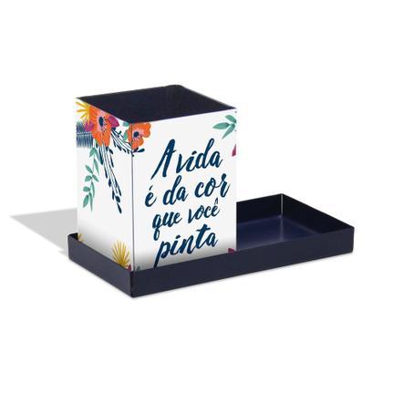 Porta Lápis Floral - 2 Peças - Geguton