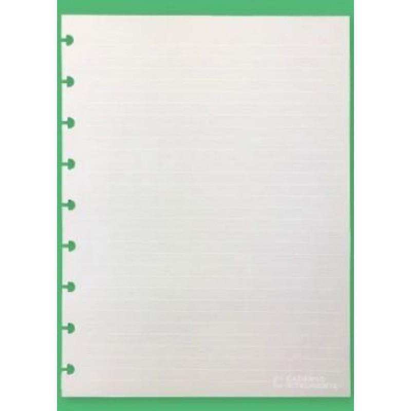 Refil Caderno Inteligente Pautado Grande 120G Linhas Brancas c/30 folhas