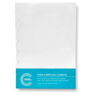 Refil Caderno Inteligente Pontilhado Médio 120G c/30 folhas