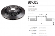 Disco de freio traseiro ventilado - PAR - 302mm - Volvo XC60 2.0 2010 até 2015, XC60 2.4 2017 até 2020, XC60 3.0 2009 até 2015.