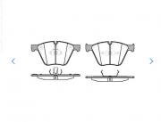 Pastilha de freio dianteira - BMW 550i, 750i, 760i, X5, X6