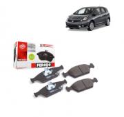 Pastilha de freio dianteira - CERÂMICA - Honda City 1.5 2009 até 2020, Fit 1.4 2008 até 2014, Fit 1.5 2009 até 2020.