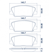 Pastilha de freio dianteira - CERÂMICA - Hyundai Azera 2012 em diante