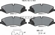 Pastilha de freio dianteira - Land Rover Discovery 4, Discovery 5, Range Rover