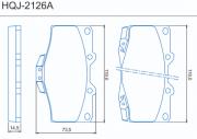 Pastilha de freio dianteira - Toyota Hilux 4x4 1989 até 2005