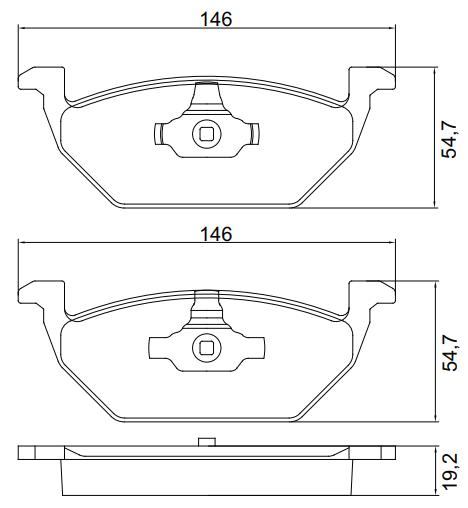 Pastilha de freio dianteira - AUDI A1, A3, VW Fox, Gol G6, Gol G7, Up Tsi, Virtus, Polo