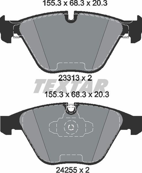 Pastilha de freio dianteira - BMW 320i 2007 até 2011, 328i 2011 até 2018, X1 2010 até 2015