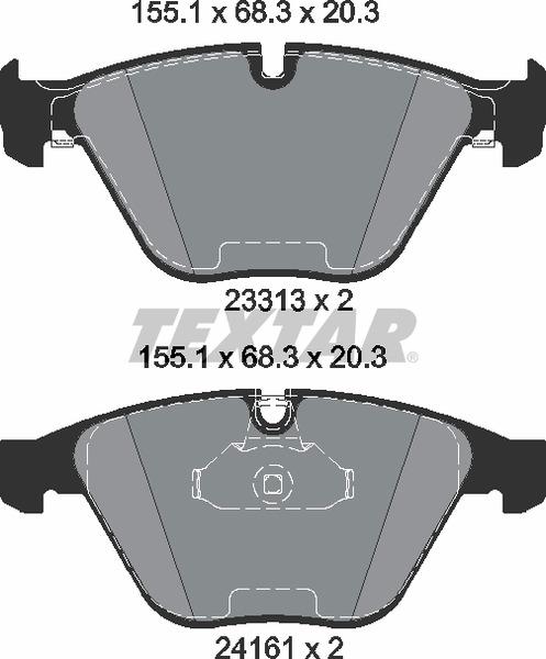 Pastilha de freio dianteira - BMW 330i M 2004 até 2011, 335i 2006 até 2013, X1 2009 até 2011, Z4 2009 até 2016
