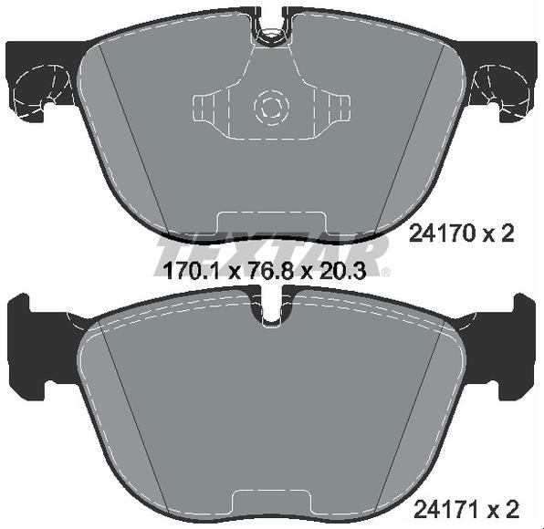 Pastilha de freio dianteira - BMW X4 2013 até 2018, X5 2006 até 2018, X6 2007 em diante.