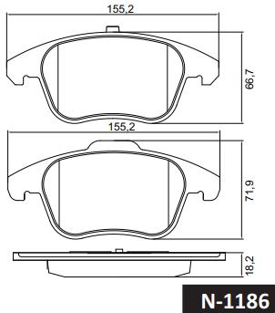 Pastilha de freio dianteira - Citroen C4 PICASSO 1.6 16v 2007 em diante, C4 GRAND PICASSO 1.6 16V 2007 em diante, C4 Lounge 2013 em diante