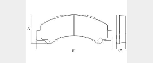 Pastilha de freio dianteira - Foton Aumark 1013