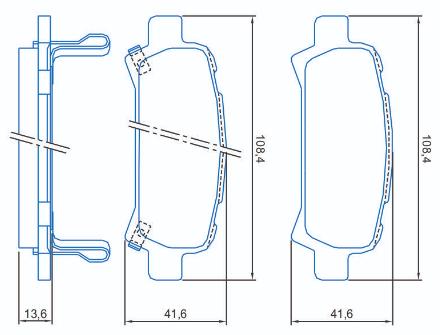 Pastilha de freio traseira - Subaru Forester 1997 em diante, Impreza 2000 em diante, Legacy 2000 em diante