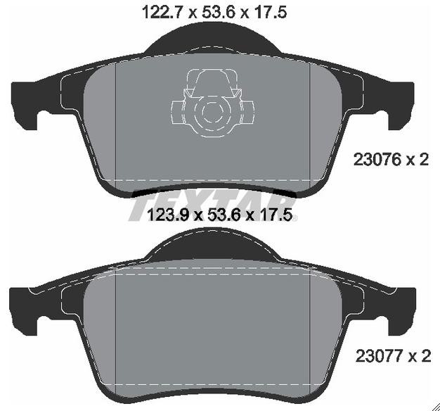 Pastilha de freio traseira - Volvo S60, S80, V70, XC70
