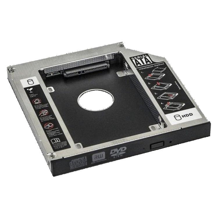 Adaptador caddy para segundo HD ou SSD 12.7mm p/ Notebook